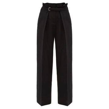 Jil Sander - Single-pleat Belted Wide-leg Trousers - Womens - Black