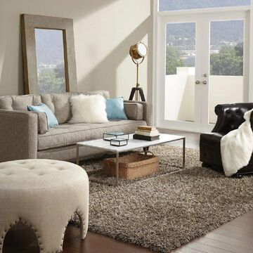 Shaw Bling Collection Super Shag Area Rug (8' x 10') - 8' x 10'