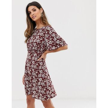 Vila boho floral tea dress