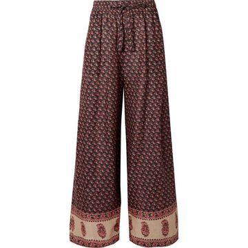Zimmermann - Jaya Printed Linen Pants - Burgundy