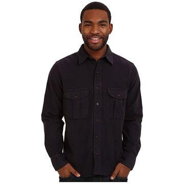 Filson Moleskin Seattle Shirt (Navy) Men's Long Sleeve Button Up