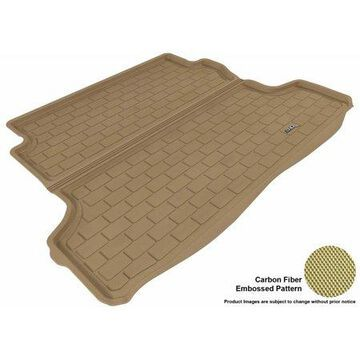 3D MAXpider 2005-2010 Chevrolet Cobalt All Weather Cargo Liner in Tan with Carbon Fiber Look