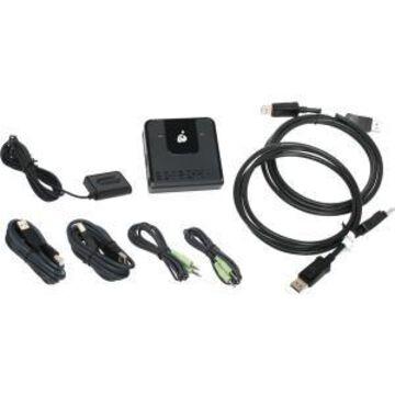 2PORT DP KVM SWITCH W/ 4K HIGH DEF VIDEO & USB 2.0 TECHNOLOGY