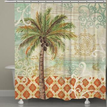 Laural Home Spice Palms Shower Curtain