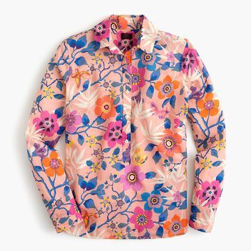 Classic popover shirt in Liberty& Pavilion pink floral