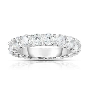 Noray Designs 14K White Gold Diamond (4.00 Ct-4.40 Ct, G-H Color, SI2-I1 Clarity) Eternity Ring (7.5)
