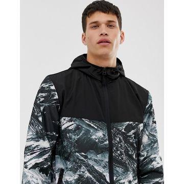 Brave Soul marble lightweight hooded jacket