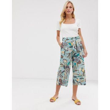 Esprit tropical pint wide leg culotte pants