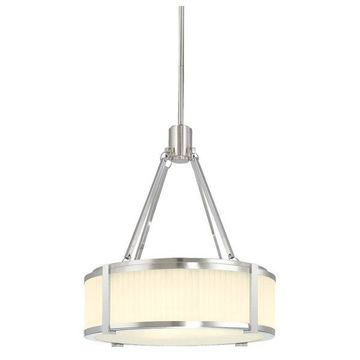 Sonneman Roxy Large Pendant, Satin Nickel