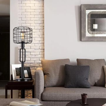 Gimbane Cage Shade Table Lamp (Black)