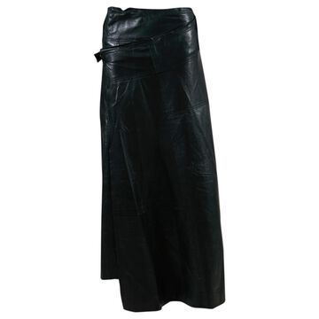 Victoria Beckham Black Leather Skirts