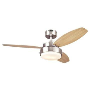 Westinghouse Alloy 42 in. Brushed Nickel Brown Indoor Ceiling Fan (As Is Item)