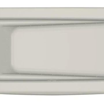Jacuzzi Primo 32-in W x 60-in L Oyster Acrylic Rectangular Right Drain Alcove Air Bath in Off-White   P1S6032ARL2XXY