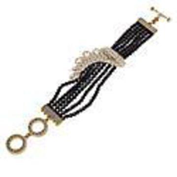 "Heidi Daus ""Classic Cascade"" Multi-Row Beaded Bracelet - One Size"
