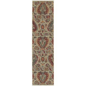 Style Haven Beige Updated Traditional Indoor/Outdoor Area Rug (1'10 x 7'6) - 1'10
