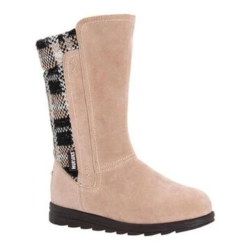 MUK LUKS Women's Stacy Boot Beige Polyester/Synthetic/Acrylic