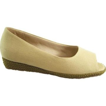 Beacon Shoes Women's Tucson Espadrille Sand Textile