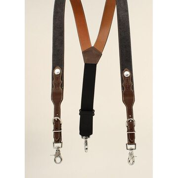 Nocona N8513667-M Round Concho Gallus, Black & Tan - Medium