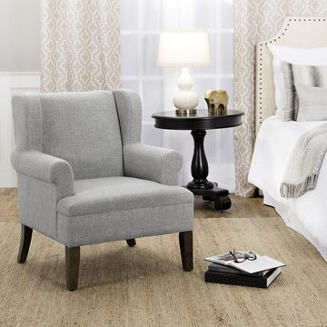 HomePop Emerson Wingback Accent Chair (Grey)