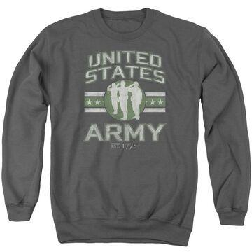 AR130-AS-2 Army & United States Army-Adult Crewneck Sweatshirt, Charcoal - Medium