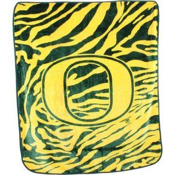 College Covers Oregon Ducks Raschel Throw Blanket
