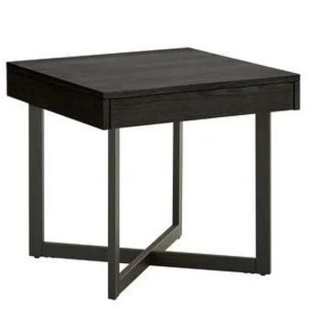 Eldersley Wood Finish End Table with One Drawer by iNSPIRE Q Modern (Black)