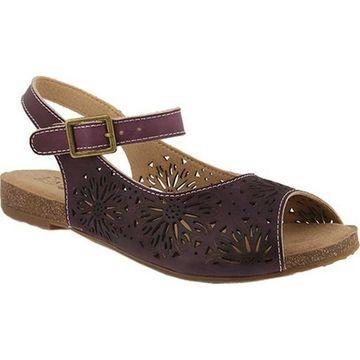 L'Artiste by Spring Step Women's Shiela Slingback Purple Leather