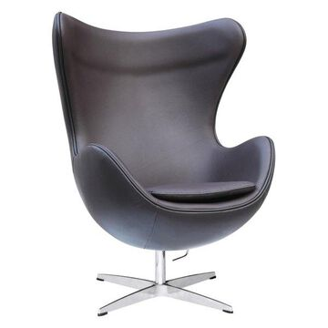 Fine Mod Imports Inner Chair Leather, Brown