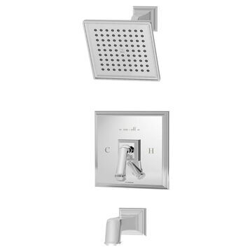 Symmons Oxford Polished Chrome 1-Handle Bathtub and Shower Faucet