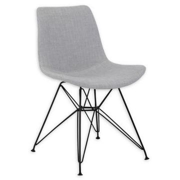Armen Living Linen Upholstered Palmetto Chair in Grey