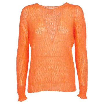 Pink Memories Orange Mohair Sweater