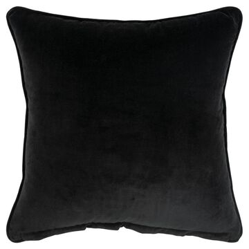 Rizzy Home Connie Post 20-in x 20-in Pink 100% Cotton Indoor Decorative Pillow in Black   DFPT17211BK002020