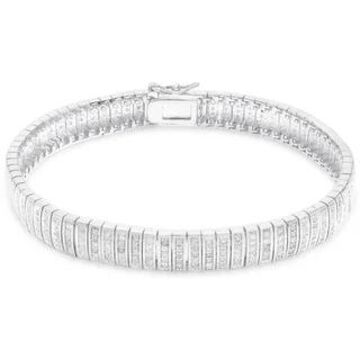 Finesque Overlay 1ct TDW Diamond Bracelet (7.25 Inch - White)