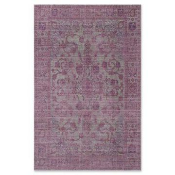Rugs America Asteria Floral 8' x 10' Area Rug in Lavender