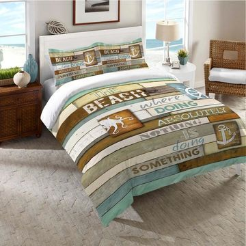 Laural Home Beach Words Comforter