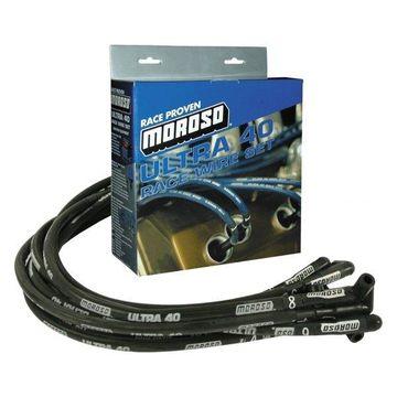 Moroso MOR73818 Ultra 40 Sleeved Wire Set, Black
