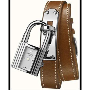 Hermes Kelly White Dial Leather Strap Women's Watch 023673WW00 023673WW00