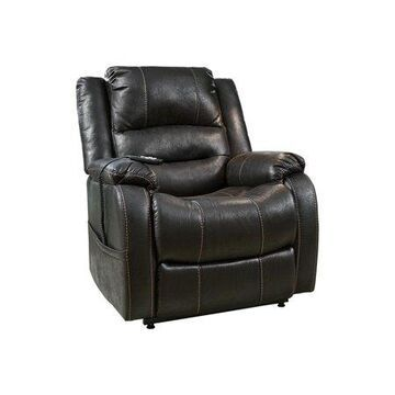 Signature Design by Ashley Yel Standard Polyester Lift Power Recliner, Black