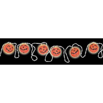 11Ft Pumpkin Lantern Lights with End-to-End Plugs By Amscan   Michaels