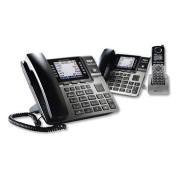 Rca U1000SET Unison 1-4 Line Wireless Phone System Bundle, W/ 1 Deskphone, 1 Cordless Handset