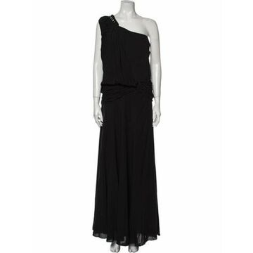 One-Shoulder Long Dress Black