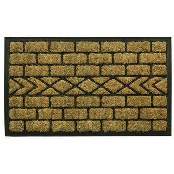 Bacova Guild Molded Boot Brush Rectangular Outdoor Doormat
