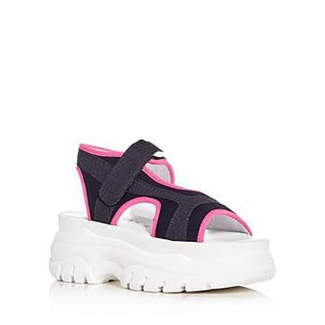 Joshua Sanders Women's Fuxia Spice Platform Sandals