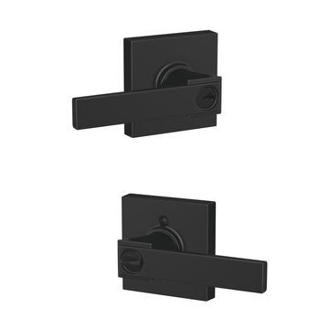 Schlage F51A Custom Northbrook- Collins Matte Black Universal Keyed Entry Door Handle