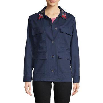 Manoush Womens Embellished Camo Jacket