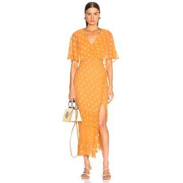 SALONI Rose Dress in Apricot | FWRD