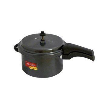 Prestige Deluxe Hard Anodized Black Color Pressure Cooker, 5 l.