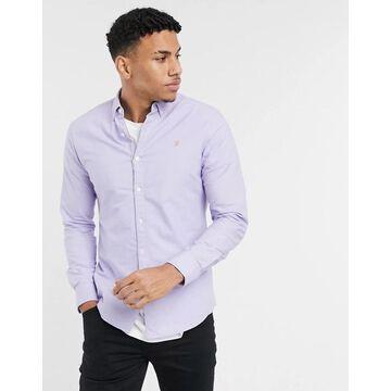 Farah Brewer slim fit shirt in lilac-Purple
