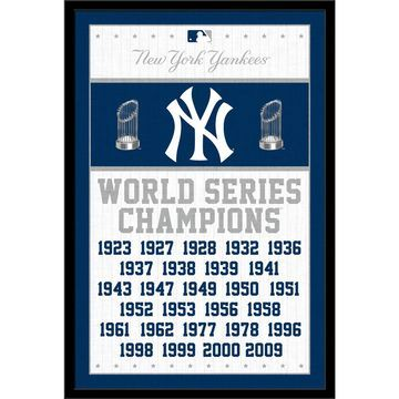 New York Yankees World Series Champions 24.25'' x 35.75'' Framed Poster