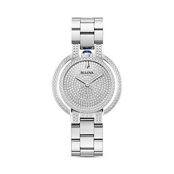 Bulova Rubaiyat Pave Diamond Dial Watch, 35mm